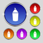 Pencil sign icon. Edit content button. Set of colored buttons. Vector — ストックベクタ