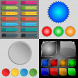 Big set of different colored buttons. Trendy, modern design for your web site. Vector — Stock Vector #56168629
