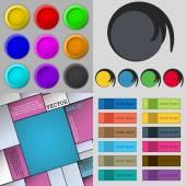 Grand ensemble de boutons de couleur différente. Design tendance et moderne pour votre site web. Vector — Vecteur