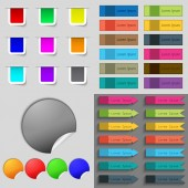 Big set of different colored buttons. Trendy, modern design for your web site. Vector — Vettoriale Stock