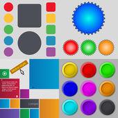 大组不同彩色按钮。时尚、 现代的设计为您的 web 站点。矢量 — 图库矢量图片