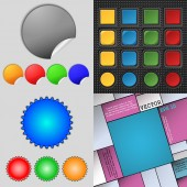 Big set of different colored buttons. Trendy, modern design for your web site. Vector — 图库矢量图片
