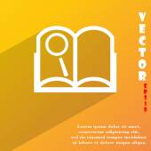 Open book icon symbol Flat modern web design with long shadow and space for your text. Vector — Vetor de Stock