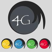 4G sign icon. — Vettoriale Stock