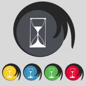 Hourglass sign icon. — Stock Vector
