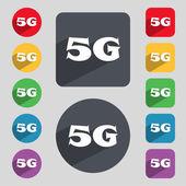 5G sign icon — Vettoriale Stock