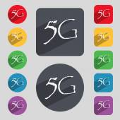 5G sign icon. — Stock Vector
