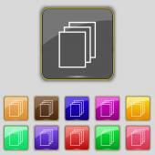 Copy file sign icon. — Vettoriale Stock