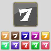Number seven icon sign. — Cтоковый вектор