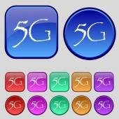 5G sign icon. — Vettoriale Stock