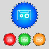 Cassette sign icon. — Vettoriale Stock