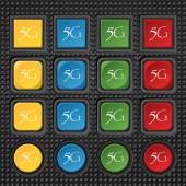 5G sign icon. — 图库矢量图片