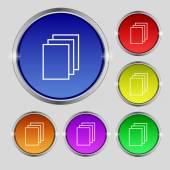 Copy file sign icon — Vettoriale Stock