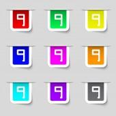 Number Nine icon sign — Cтоковый вектор