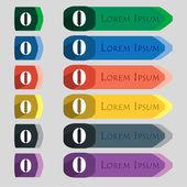 Число ноль значок знак — Cтоковый вектор