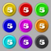 Number five icon sign — Cтоковый вектор