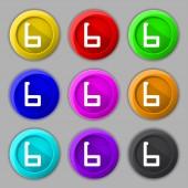 Number six icon sign — Cтоковый вектор