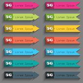 5G sign icon. Mobile telecommunications technology symbol. — Vector de stock