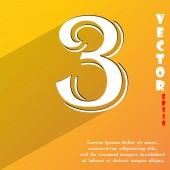 Номер три значок символ — Cтоковый вектор