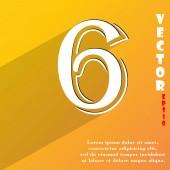 Símbolo do ícone número seis — Vetor de Stock