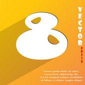 番号 8 のアイコンのシンボル — ストックベクタ