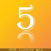 Nummer fünf Symbol symbol — Stockvektor