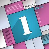 Номер один значок символ — Cтоковый вектор