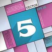 Номер пять значок символ — Cтоковый вектор