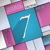 Símbolo do ícone de número sete — Vetor de Stock