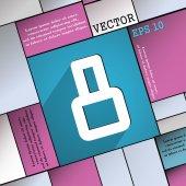 Símbolo de número oito ícone — Vetor de Stock