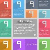 Number Nine icon sign. — Cтоковый вектор