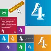 Номер четыре значок знак — Cтоковый вектор