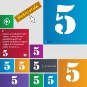 Номер пять значок знак. — Cтоковый вектор