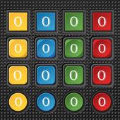 Sinal de ícone de número zero — Vetor de Stock
