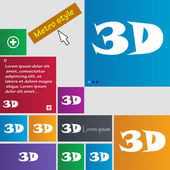 3D sign icon. 3D-New technology symbol. — Vettoriale Stock