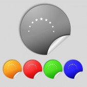 Star sign icon. Favorite button. Navigation symbol. Set colourful buttons  — Stock Photo