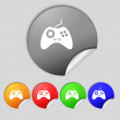 Joystick sign icon. Video game symbol. Set colourful buttons.  — Stock Photo #58100185