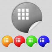 List sign icon. Content view option symbol. Set colour buttons.  — Stock Photo