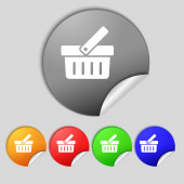Shopping Cart sign icon. Online buying button. Set colourful buttons.  — Stock Photo