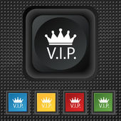 Vip sign icon. — Stockvektor
