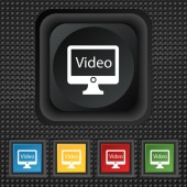 Play video sign icon — Stock Vector
