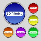 3D Print sign icon. — Stock Vector