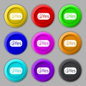 Yes sign icon. — Stock Vector