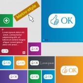 OK sign icon. — Stock Vector