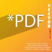PDF file extension icon symbol — Stock Vector