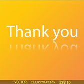 Thank you icon symbol — Vettoriale Stock