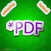PDF file extension icon sign. — Vector de stock