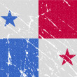 Flag of Panama with old texture. Vector — Stock Vector #64014253