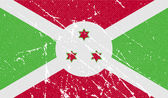 Flag of Burundi with old texture. Vector — Stock Vector