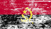 Flag of Angola with old texture. Vector — Vettoriale Stock
